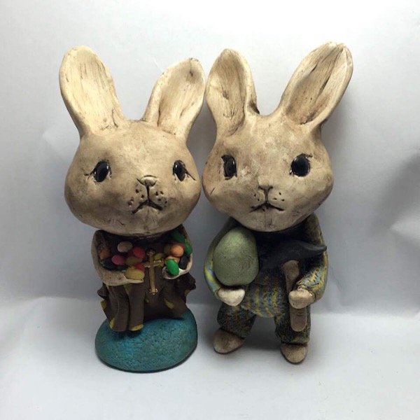 Leslie Blackford bunnies at VIA Artistica